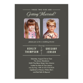 Old School Pictures Wedding Shower Invitations