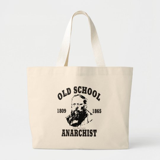 Old School -- Pierre-Joseph Proudhon Large Tote Bag