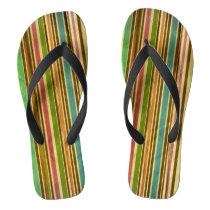 Old School Pin Stripes Pattern Flip Flops