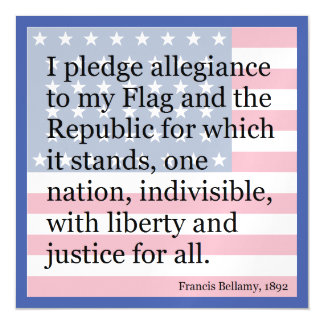old school pledge of allegiance magnetic card