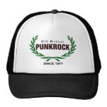 Old School punk rock (green laurel wreath) Trucker Hat