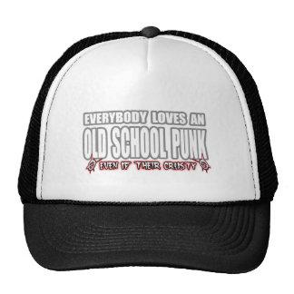 OLD SCHOOL PUNK ROCK guy girl crusty punks Mesh Hats