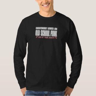 OLD SCHOOL PUNK ROCK guy girl crusty punks T-Shirt