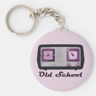 Old School Radio Retro Vintage Basic Round Button Keychain