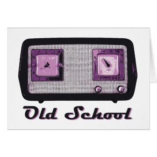 Old School Radio Retro Vintage Card