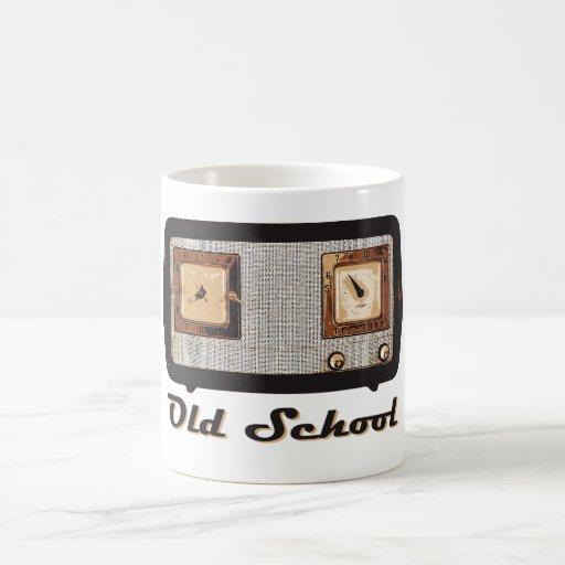 Old School Radio Retro Vintage Classic White Coffee Mug