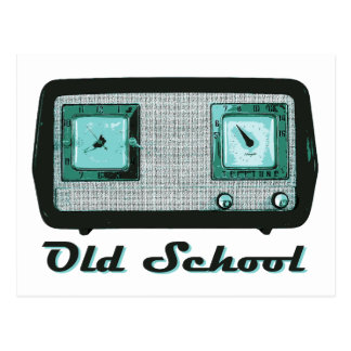 Old School Radio Retro Vintage Post Cards