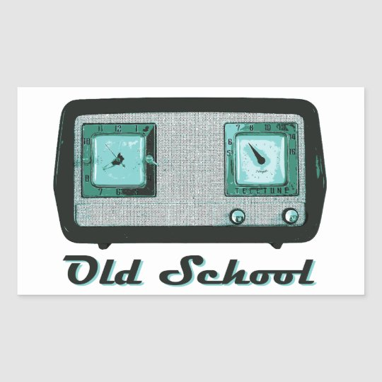 Old School Radio Retro Vintage Rectangular Sticker