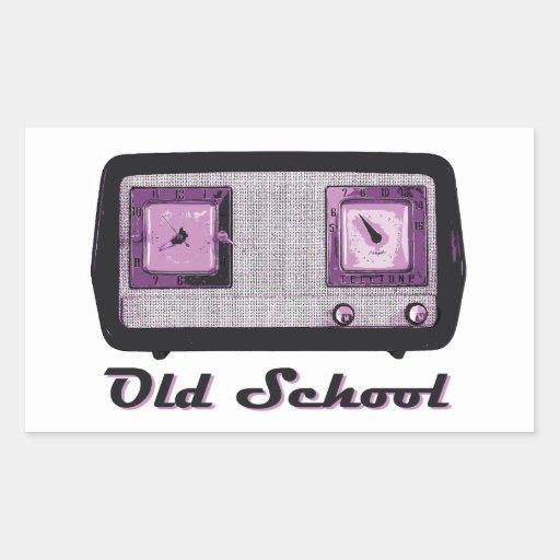 Old School Radio Retro Vintage Rectangle Stickers