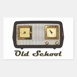Old School Radio Retro Vintage Rectangle Sticker