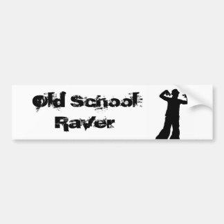 Old School Raver Bumper Sticker