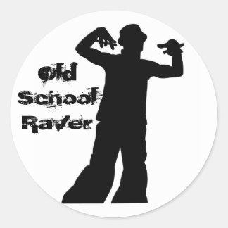 Old School Raver Sticker