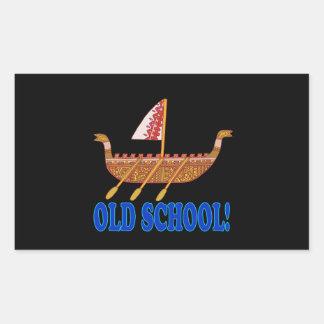 Old School Rectangular Sticker