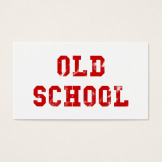 Old School Red Business Cards | Old skool gifts