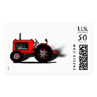 Old School Red Tractor Postage