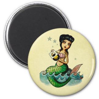 Old School Reggae Mermaid Magnet