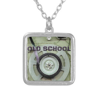 Old School Retro 8 Track Cassette Tape Silver Plated Necklace