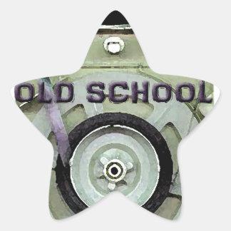 Old School Retro 8 Track Cassette Tape Star Sticker