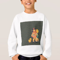 old school retro polka dots kitsch Vintage Kids Sweatshirt