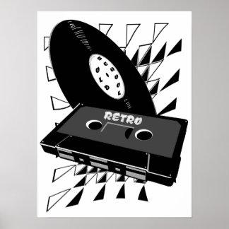 old school retro style poster