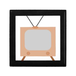 old school retro TV set Keepsake Box