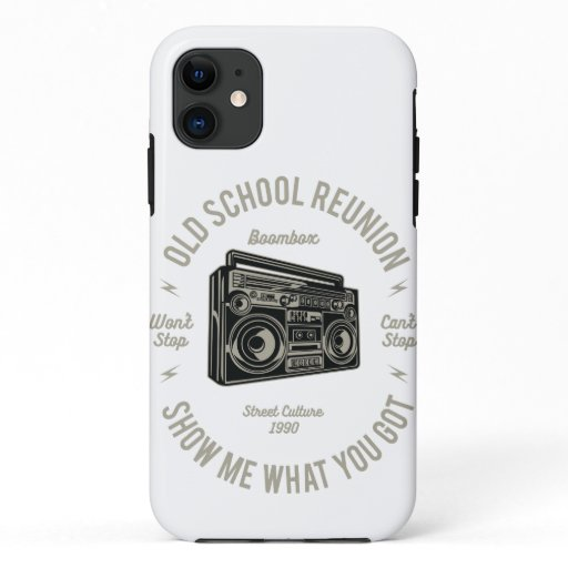 Old school reunion music iPhone 11 case