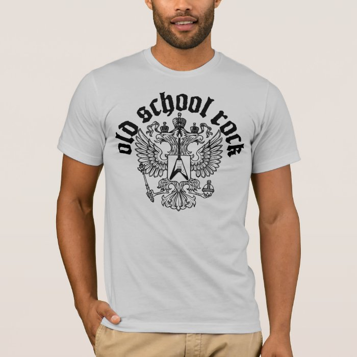 Old school rock logo t shirt zazzle for Old logo t shirts