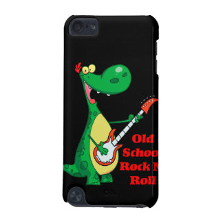 old school rock n roll dinosaur playing guitar iPod touch 5G case
