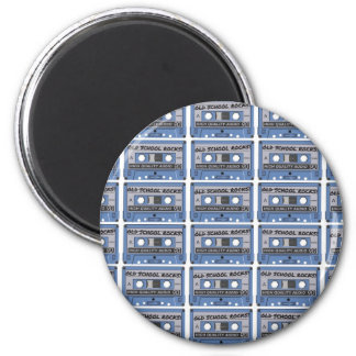 Old School Rocks Cassette Tapes 2 Inch Round Magnet