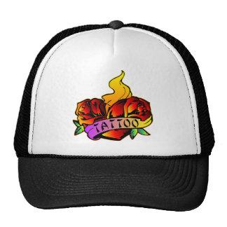 Old School Roses Tattoo Trucker Hat