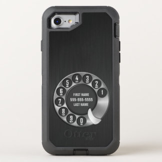 Old School Rotary Dial Phone OtterBox Defender iPhone 7 Case