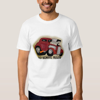 Old School Rules Hot Rod Caricature T-Shirt