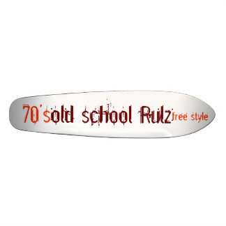 old school Rulz, free style, 70's Skateboard Deck