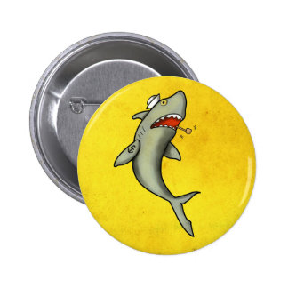Old School Sailor Shark Pinback Buttons