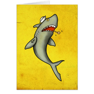 Old School Sailor Shark Card
