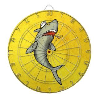 Old School Sailor Shark Dartboard