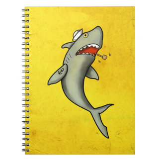 Old School Sailor Shark Spiral Notebooks