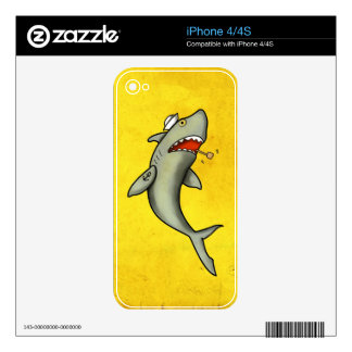 Old School Sailor Shark Decal For iPhone 4