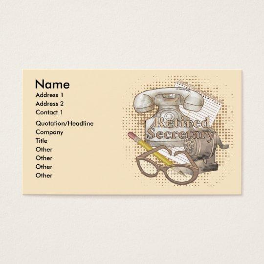 Old School Secretary Business Card