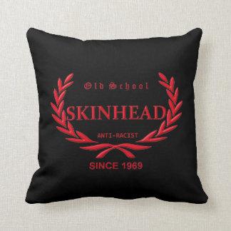 Old School skinhead anti Racist Since 1969 Throw Pillow
