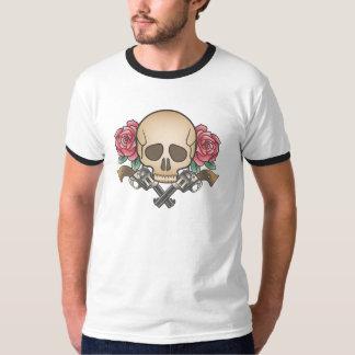 Old school skull tattoo design t shirt