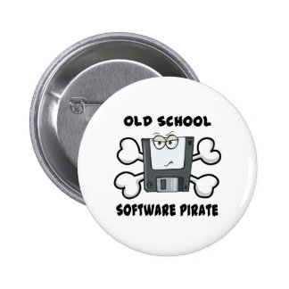 old school software pirate Skull and Crossbones Buttons