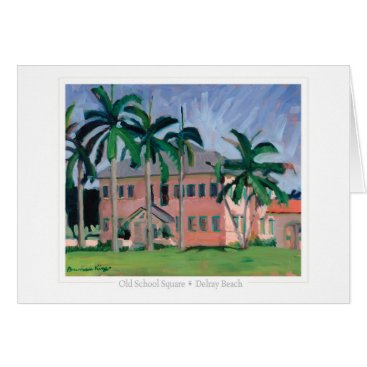 Beach Themed Old School Square note card