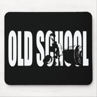 Old School Strength (Body building Motivation) Mouse Pad