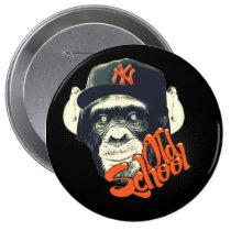 graffiti, urban, old school, monkey, funny, cool, cassette, vintage, geek, street, hip hop, music, old school monkey, cap, college, fashion, fun, best, graphic, gifts, unique, original, deisgn, grafik'prod, Button with custom graphic design