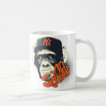 swag, monkey, graffiti, urban, old school, street, funny, street art, vintage, cool, hip hop, old school monkey, earphone, fashion, fun, design, grafik'prod, mug, Mug with custom graphic design