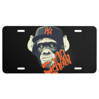 Old school swag monkey license plate