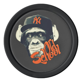 Old school swag monkey poker chips set