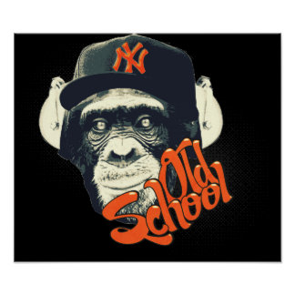 Old school swag monkey poster