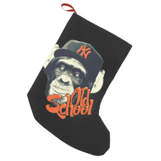 Old school swag monkey small christmas stocking